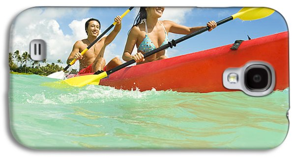 Youthful Galaxy S4 Cases - Japanese couple kayaking Galaxy S4 Case by Dana Edmunds - Printscapes