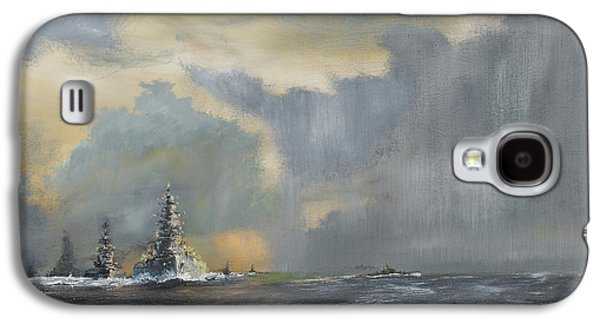 Sailboats In Water Galaxy S4 Cases - Japanese fleet in Pacific Galaxy S4 Case by Vincent Alexander Booth
