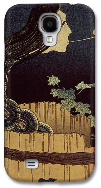 Creepy Drawings Galaxy S4 Cases - Japanese Ghost Galaxy S4 Case by Hokusai