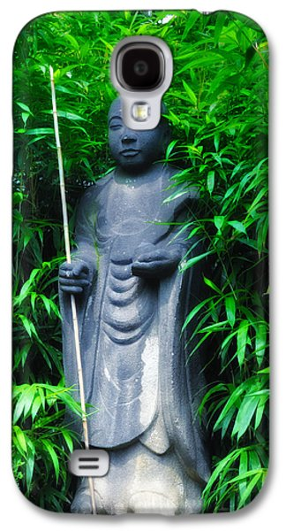 Bamboo House Galaxy S4 Cases - Japanese House Monk Statue Galaxy S4 Case by Bill Cannon