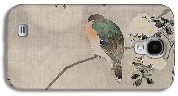 Japanese Silk Painting Of A Wood Pigeon Galaxy S4 Case by Japanese School