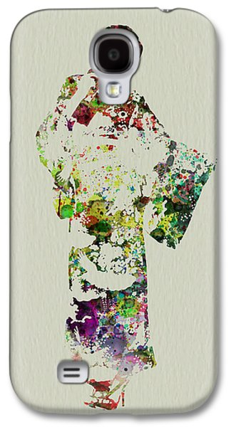 Singing Paintings Galaxy S4 Cases - Japanese woman in kimono Galaxy S4 Case by Naxart Studio