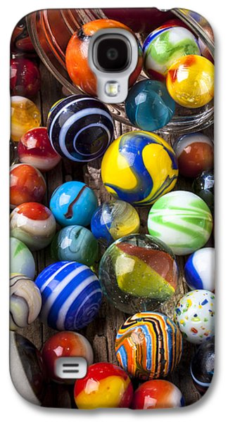 Collect Galaxy S4 Cases - Jar of marbles Galaxy S4 Case by Garry Gay