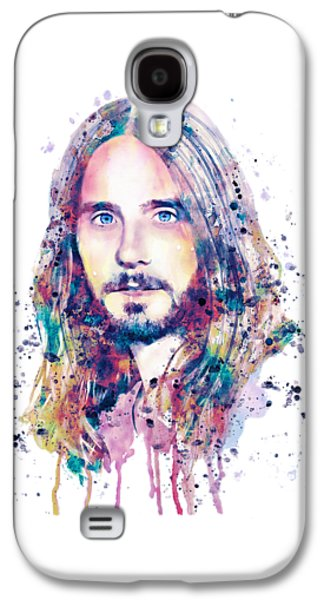 Square Format Digital Galaxy S4 Cases - Jared Leto Galaxy S4 Case by Marian Voicu