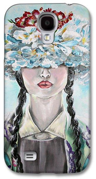 Girl Reliefs Galaxy S4 Cases - Jasmine Galaxy S4 Case by Maudy Alferink