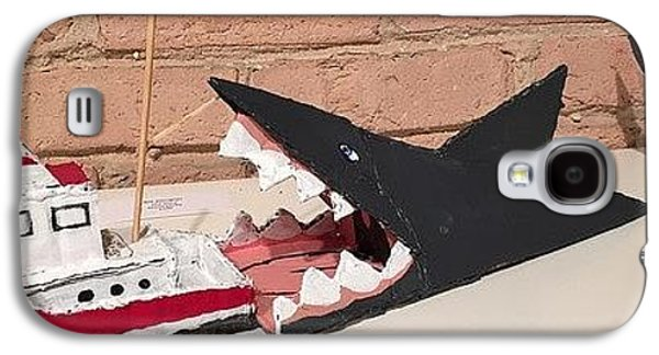 Sharks Sculptures Galaxy S4 Cases - Jaws Galaxy S4 Case by William Douglas
