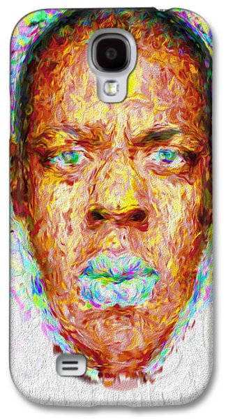 Jay Z Painted Digitally 2 Galaxy S4 Case by David Haskett