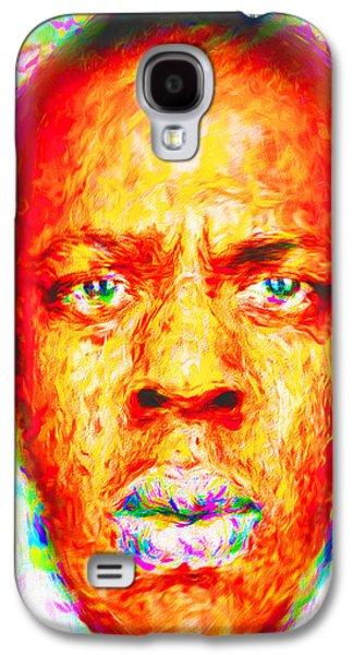 Jay-z Shawn Carter Digitally Painted Galaxy S4 Case by David Haskett