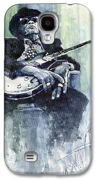 Jazz Galaxy S4 Cases - Jazz Bluesman John Lee Hooker 04 Galaxy S4 Case by Yuriy  Shevchuk