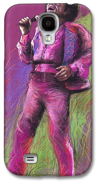 Jazz Galaxy S4 Cases - Jazz James Brown Galaxy S4 Case by Yuriy  Shevchuk