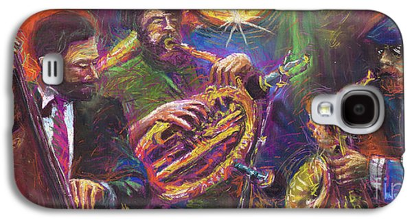 Jazz Galaxy S4 Cases - Jazz Jazzband Trio Galaxy S4 Case by Yuriy  Shevchuk