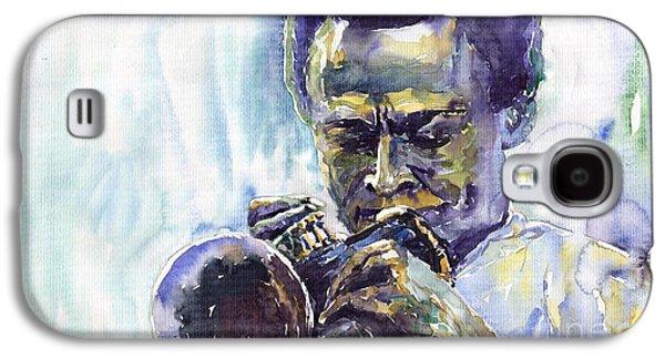 Jazz Miles Davis 10 Galaxy S4 Case by Yuriy  Shevchuk