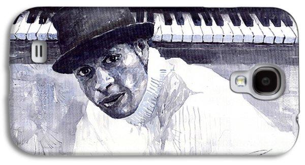 Piano Paintings Galaxy S4 Cases - Jazz Roberto Fonseca Galaxy S4 Case by Yuriy  Shevchuk