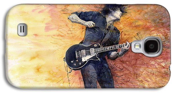 Jazz Galaxy S4 Cases - Jazz Rock Guitarist Stone Temple Pilots Galaxy S4 Case by Yuriy  Shevchuk