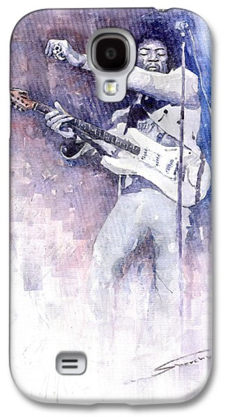 Jimi Hendrix Galaxy S4 Cases - Jazz Rock Jimi Hendrix 07 Galaxy S4 Case by Yuriy  Shevchuk