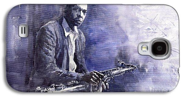 Figurative Galaxy S4 Cases - Jazz Saxophonist John Coltrane 03 Galaxy S4 Case by Yuriy  Shevchuk