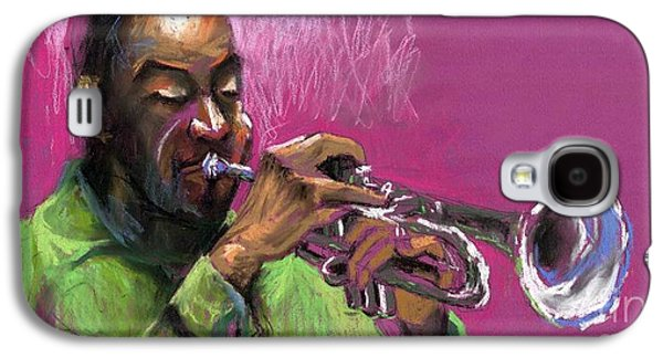 Jazz Galaxy S4 Cases - Jazz Trumpeter Galaxy S4 Case by Yuriy  Shevchuk