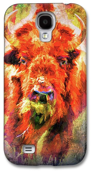 Jazzy Buffalo Colorful Animal Art By Jai Johnson Galaxy S4 Case by Jai Johnson