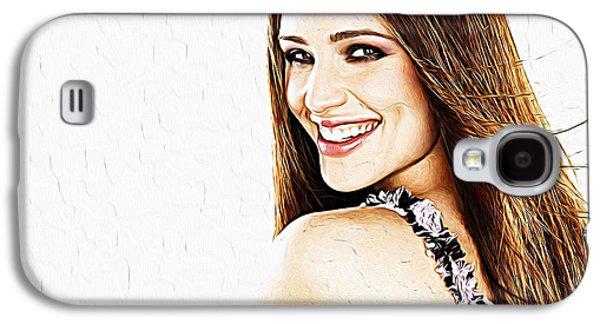 Jessica Alba Galaxy S4 Cases - Jennifer Garner Galaxy S4 Case by Queso Espinosa