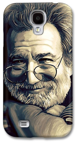 Singer Mixed Media Galaxy S4 Cases - Jerry Garcia Artwork  Galaxy S4 Case by Sheraz A