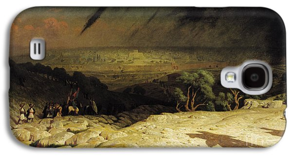 Town Paintings Galaxy S4 Cases - Jerusalem Galaxy S4 Case by Jean Leon Gerome