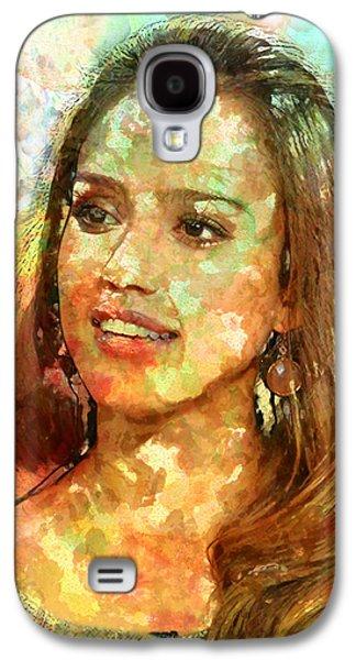 Jessica Alba Galaxy S4 Case by Elena Kosvincheva