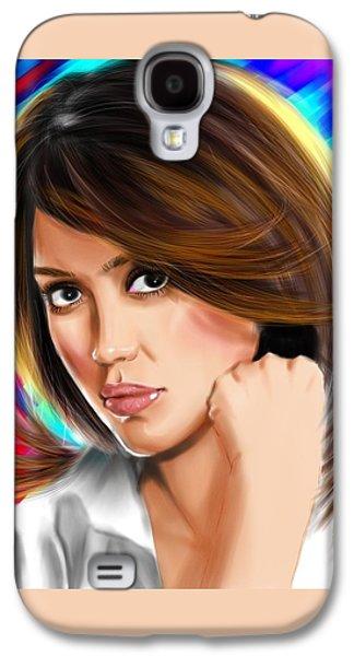 Jessica Alba Galaxy S4 Case by Isaac Martinez