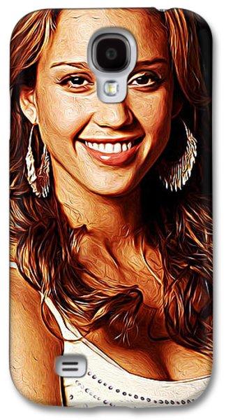 Jessica Alba Galaxy S4 Case by Iguanna Espinosa