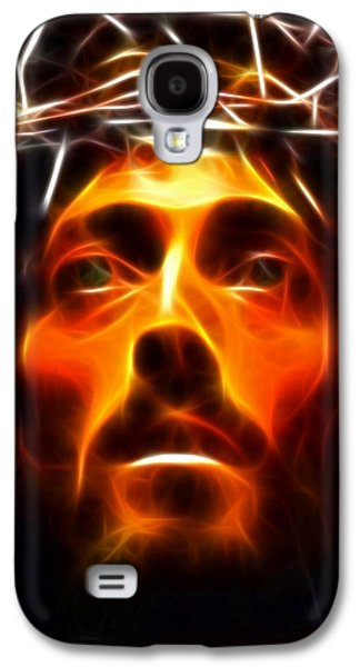 Spirituality Galaxy S4 Cases - Jesus Christ The Savior Galaxy S4 Case by Pamela Johnson