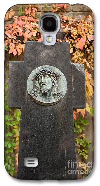Jesus Portrait Cross Monument Galaxy S4 Case by Arletta Cwalina