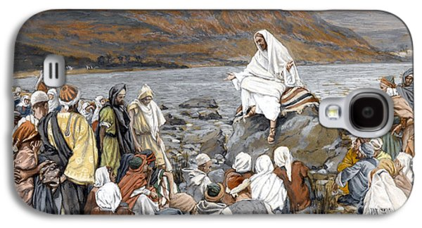 Jesus Preaching Galaxy S4 Case by Tissot