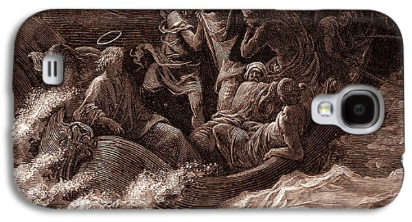 Jesus Stilling The Tempest Galaxy S4 Case by Gustave Dore
