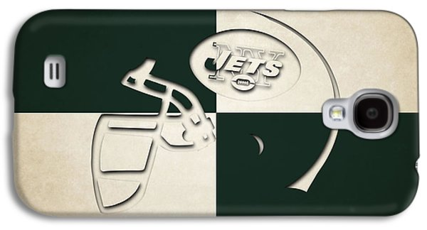 New York Jets Galaxy S4 Cases - Jets Helmet Art Galaxy S4 Case by Joe Hamilton