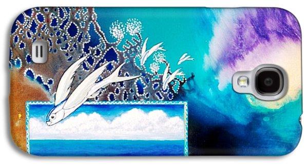 Angel Mermaids Ocean Galaxy S4 Cases - Jewels of the Sea Galaxy S4 Case by Lee Pantas