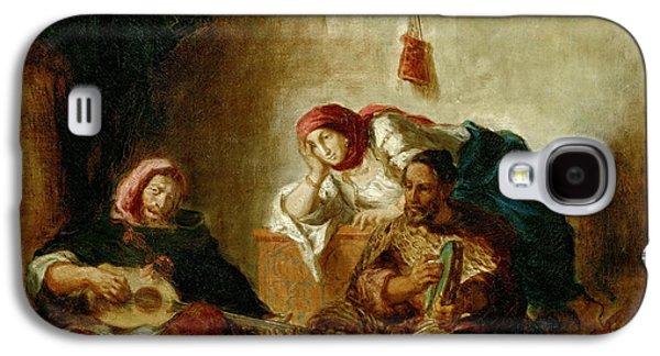 Delacroix Galaxy S4 Cases - Jewish musicians Mogador Galaxy S4 Case by Eugene Delacroix