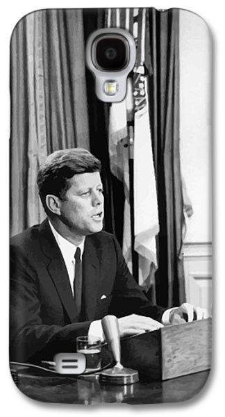 Democrats Galaxy S4 Cases - JFK Addresses The Nation  Galaxy S4 Case by War Is Hell Store
