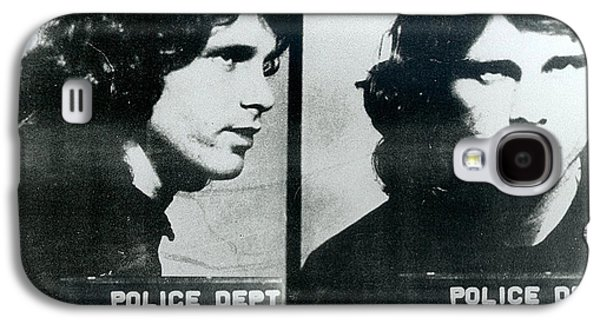 Police Paintings Galaxy S4 Cases - Jim Morrison Mug Shot Horizontal Galaxy S4 Case by Tony Rubino