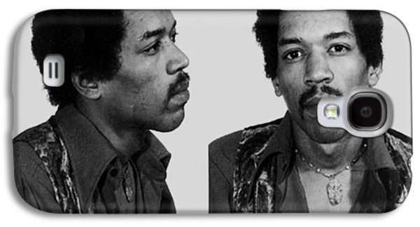 Police Paintings Galaxy S4 Cases - Jimi Hendrix Mug Shot Horizontal Galaxy S4 Case by Tony Rubino