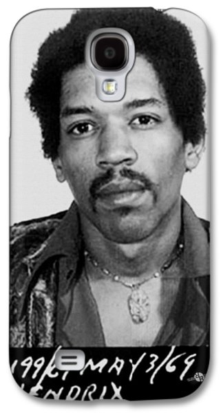 Police Paintings Galaxy S4 Cases - Jimi Hendrix Mug Shot Vertical Galaxy S4 Case by Tony Rubino