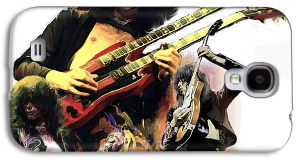 Jimmy Page  Echoes Of Pompeii Galaxy S4 Case by Iconic Images Art Gallery David Pucciarelli