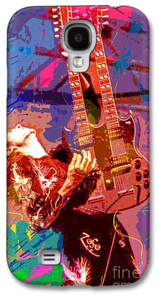 Jimmy Page Galaxy S4 Cases - Jimmy Page Stairway To Heaven Galaxy S4 Case by David Lloyd Glover