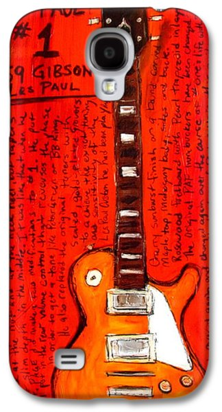 Led Zeppelin Paintings Galaxy S4 Cases - Jimmy Pages Les Paul Number1 Galaxy S4 Case by Karl Haglund