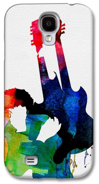 Jimmy Watercolor Galaxy S4 Case by Naxart Studio
