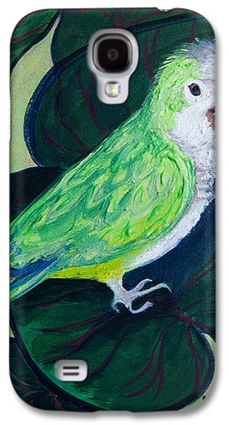 Quaker Paintings Galaxy S4 Cases - Jingles the Parrot Galaxy S4 Case by Lisa LoCurto