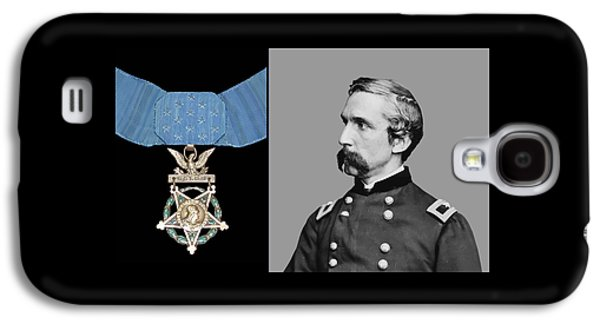 Army Digital Art Galaxy S4 Cases - J.L. Chamberlain and The Medal of Honor Galaxy S4 Case by War Is Hell Store
