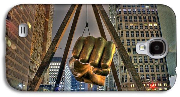 Bull Digital Galaxy S4 Cases - Joe Louis Fist Detroit MI Galaxy S4 Case by Nicholas  Grunas