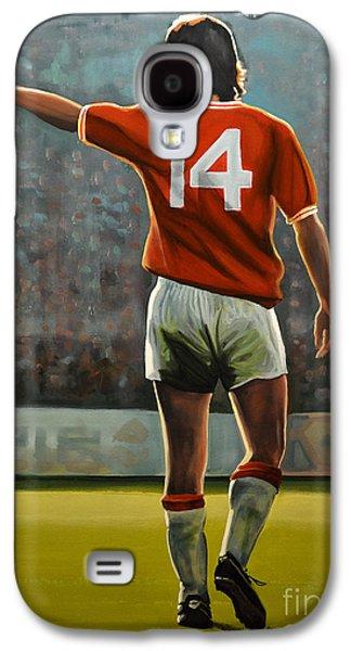 Johan Cruyff Oranje Nr 14 Galaxy S4 Case by Paul Meijering