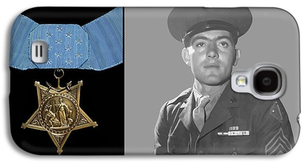 John Basilone And The Medal Of Honor Galaxy S4 Case by War Is Hell Store