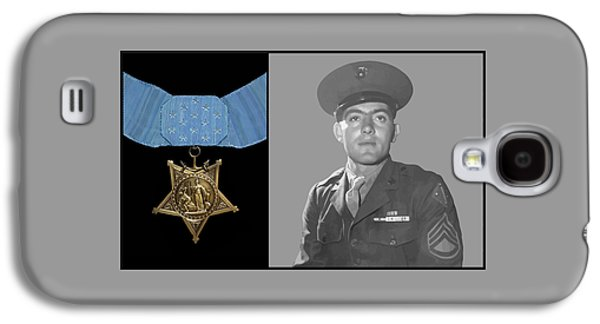 Army Digital Art Galaxy S4 Cases - John Basilone and The Medal of Honor Galaxy S4 Case by War Is Hell Store
