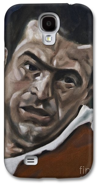 Rugby Paintings Galaxy S4 Cases - John Bentley Galaxy S4 Case by James Lavott